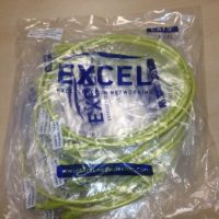 excel 2 meter cat5e patch leads yellow