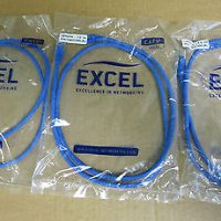 excel-3-meter-patch-leads-blue